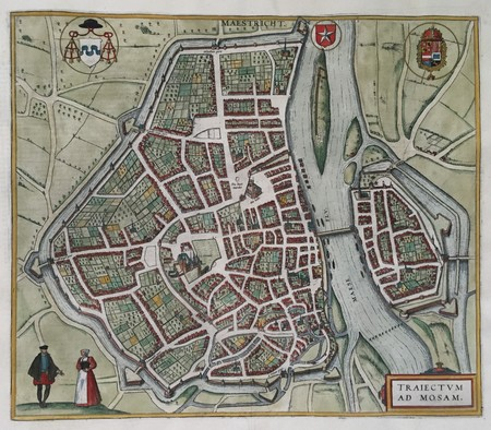 Maastricht. Bird's-eye plan.