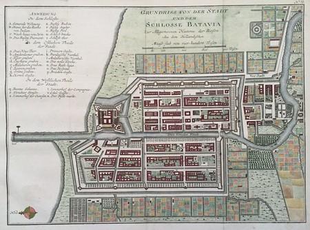 Indonesia. Batavia (Jakarta). Plan of Batavia.