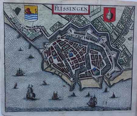 Vlissingen. Bird's-eye plan