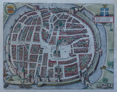 Zwolle. Bird's-eye plan.