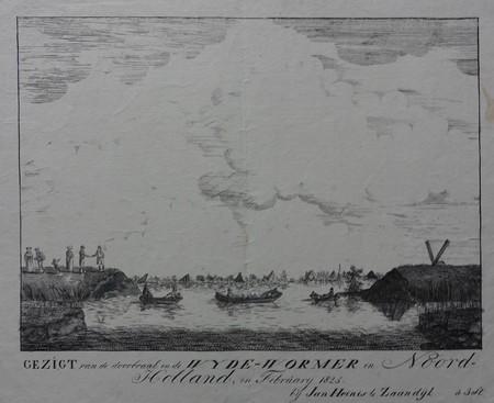 Wijdewormer. Floods. Dike-break 1825.