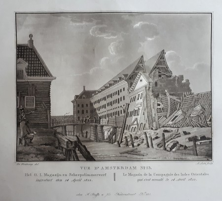 Amsterdam, het O.I. magazijn en scheepstimmerswerf