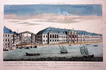 Rusland. Sint-Petersburg. Gezicht van het keizerlijke Winter Paleis in St. Petersburg.