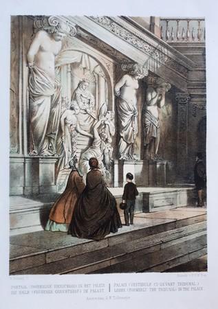 Amsterdam. Portaal (voormalige vierschaar) in het paleis
