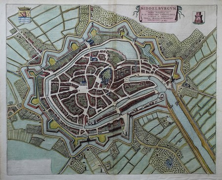 Middelburg. Bird's-eye plan