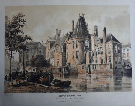 Amsterdam. Kloveniersburgwal. Doelenhotel.
