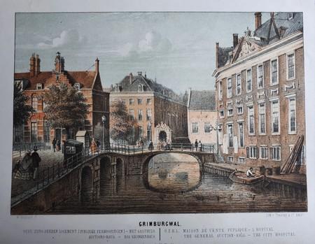 Amsterdam. Grimburgwal.Oudezijds Herenlogement en Gasthuis.