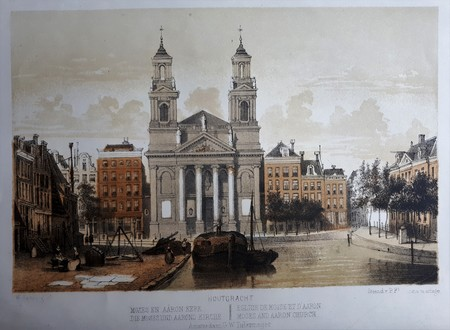 Amsterdam. Waterlooplein. Mozes en Aäronkerk.