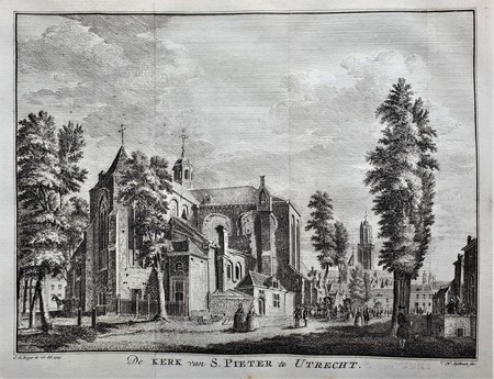 Utrecht. Pieterskerk. Dom Tower