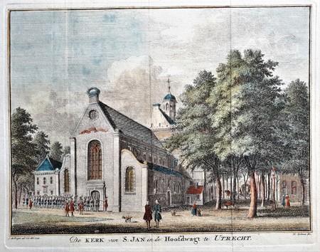 Utrecht. De kerk van S. Jan en de Hoofdwagt te Utrecht