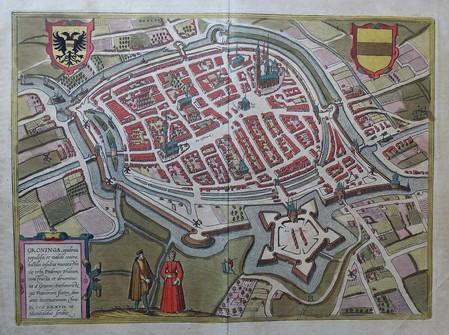 Groningen. Bird's-eye plan