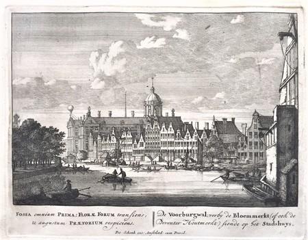 Amsterdam. Nieuwezijds Voorburgwal. Stadhuis