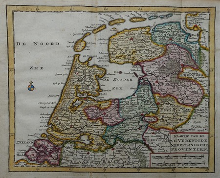 Netherlands. Map of the Seven United Provinces