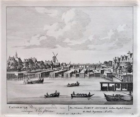 Amsterdam. Amstel seen to Amstelsluizen and Hogesluis