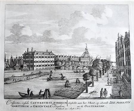 Amsterdam. Kattenburgerbrug. 's Lands Zeemagazijn.