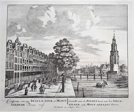 Amsterdam. Waalseilandsgracht. Mont-Albaans tower.