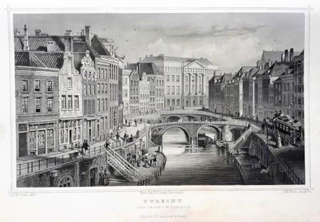 Utrecht. Oude gracht.