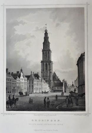 Groningen. Grote Markt en Martinikerk.