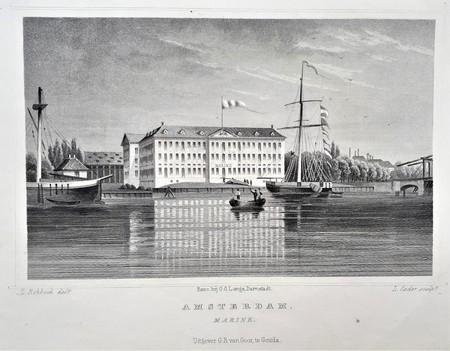 Amsterdam. Marine. Huidig Scheepvaartmuseum.