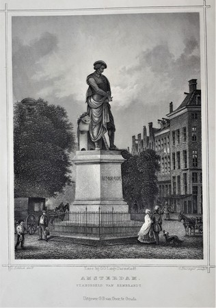Amsterdam. Standbeeld Rembrandt.